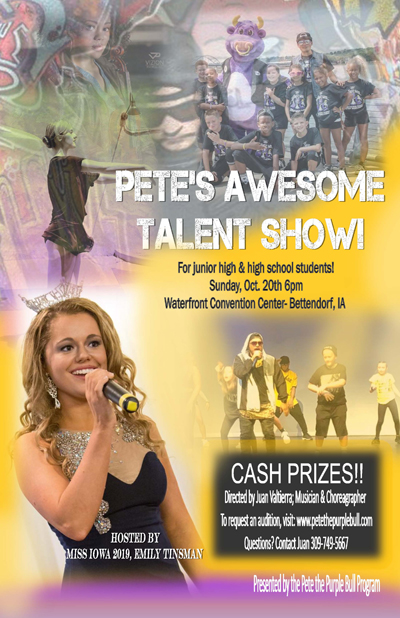 Poster for Pete's talent show